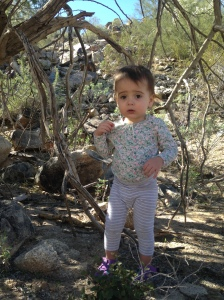 On Her First Hike